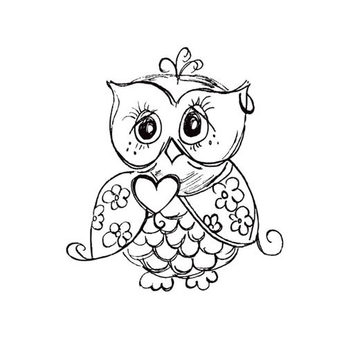 Kaisercraft - Clear Acrylic Stamps - Mini - Owl