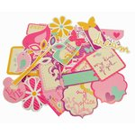 Kaisercraft - Butterfly Kisses Collection - Collectables - Die Cut Cardstock Pieces