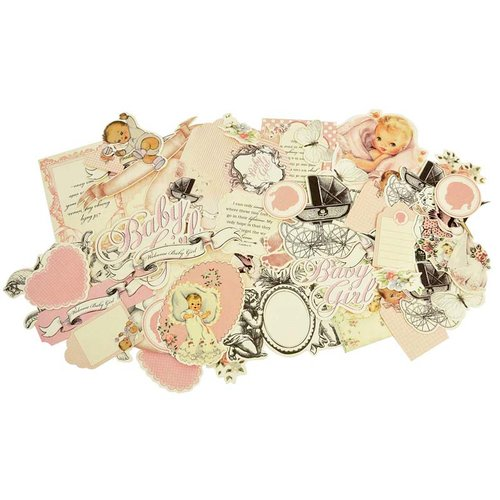Kaisercraft - Bundle of Joy Collection - Collectables - Die Cut Cardstock Pieces - Girl