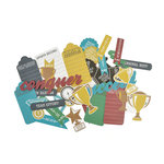 Kaisercraft - Game On Collection - Collectables - Die Cut Cardstock Pieces - Awards