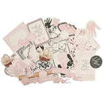 Kaisercraft - Pitter Patter Collection - Collectables - Die Cut Cardstock Pieces - Girl