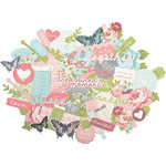 Kaisercraft - Secret Garden Collection - Collectables - Die Cut Cardstock Pieces
