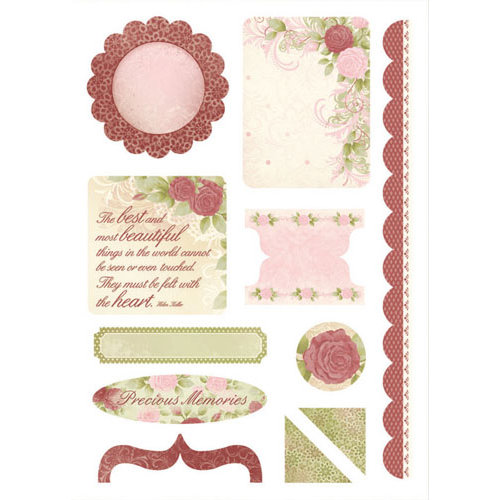 Kaisercraft - English Rose Collection - Die Cuts - Elements
