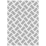 Kaisercraft - 4 x 6 Embossing Folder - Checker Plate