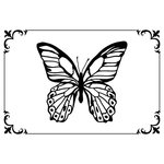 Kaisercraft - 4 x 6 Embossing Folder - Framed Butterfly