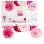Kaisercraft - Pop Collection - Tissue Paper Pom Poms - Fairy Floss - 3 Pack