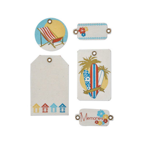 Kaisercraft - Seaside Collection - Canvas Tags