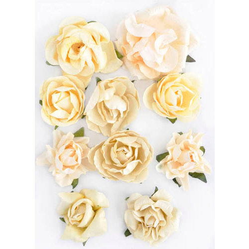 Kaisercraft - Paper Blooms - Flowers - Buttercream