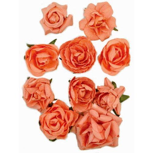 Kaisercraft - Paper Blooms - Flowers - Coral