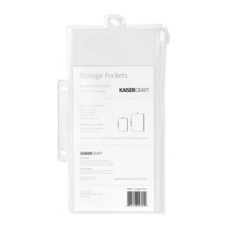 Kaisercraft - Zip Lock Storage Folder Pockets - Medium - 5 Pack