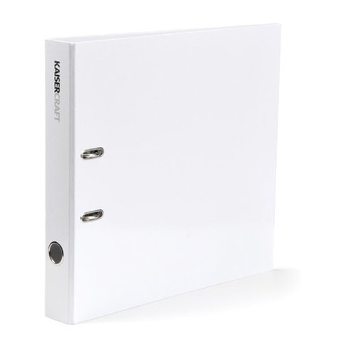 Kaisercraft - Paper and Layout Storage Folder Binder - White - 12 x 12