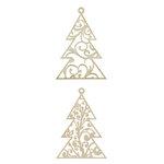 Kaisercraft - Baubles - Die Cut Wood Pieces - Hanging Flourish Tree