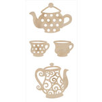 Kaisercraft - Flourishes - Die Cut Wood Pieces - Tea Party