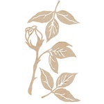 Kaisercraft - Flourishes - Die Cut Wood Pieces - Rose and Leaves