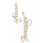 Kaisercraft - Flourishes - Die Cut Wood Pieces - Adore and Forever