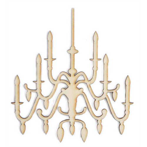 Kaisercraft - Flourishes - Die Cut Wood Pieces - Chandelier