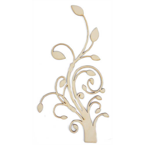 Kaisercraft - Flourishes - Die Cut Wood Pieces - Flourish Vine