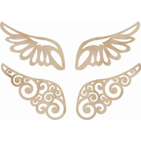 Kaisercraft - Flourishes - Die Cut Wood Pieces - Wings