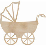Kaisercraft - Flourishes - Die Cut Wood Pieces - Pram