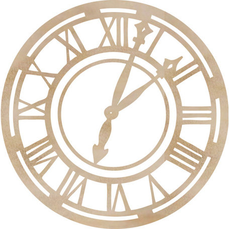 Kaisercraft - Flourishes - Die Cut Wood Pieces - Roman Clock Face
