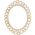 Kaisercraft - Flourishes - Die Cut Wood Pieces - Oval Lace Frame