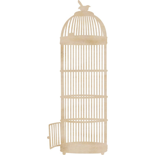 Kaisercraft - Flourishes - Die Cut Wood Pieces - Long Birdcage