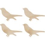 Kaisercraft - Flourishes - Die Cut Wood Pieces - Sitting Birds