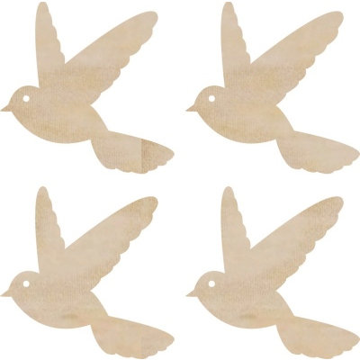 Kaisercraft - Flourishes - Die Cut Wood Pieces - Flying Birds