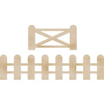Kaisercraft - Flourishes - Die Cut Wood Pieces - Fence and Gate