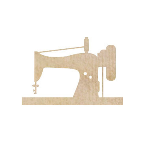 Kaisercraft - Flourishes - Die Cut Wood Pieces - Sewing Machine