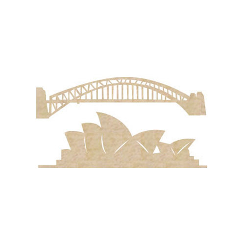 Kaisercraft - Flourishes - Die Cut Wood Pieces - Sydney Icons