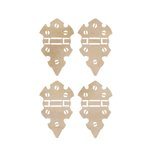 Kaisercraft - Flourishes - Die Cut Wood Pieces - Mini Hinges