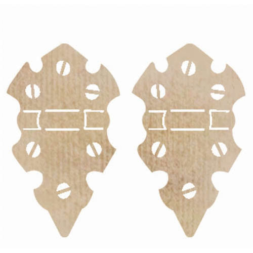 Kaisercraft - Flourishes - Die Cut Wood Pieces - Medium Hinges