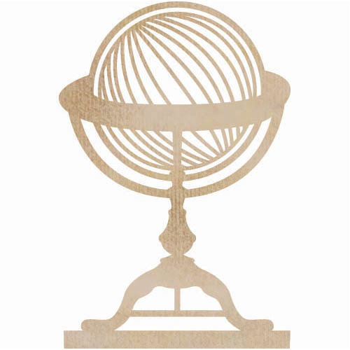 Kaisercraft - Flourishes - Die Cut Wood Pieces - Globe