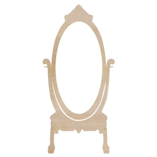 Kaisercraft - Flourishes - Die Cut Wood Pieces - Dress Mirror