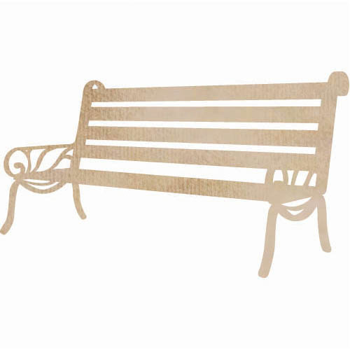 Kaisercraft - Flourishes - Die Cut Wood Pieces - Bench Seat