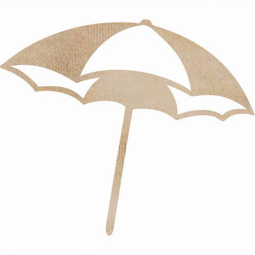 Kaisercraft - Flourishes - Die Cut Wood Pieces - Beach Umbrella