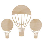 Kaisercraft - Flourishes - Die Cut Wood Pieces - Hot Air Balloons