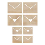 Kaisercraft - Flourishes - Die Cut Wood Pieces - Envelopes