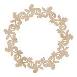 Kaisercraft - Flourishes - Die Cut Wood Pieces - Rose Wreath