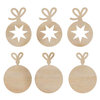Kaisercraft - Flourishes - Die Cut Wood Pieces - Mini Baubles