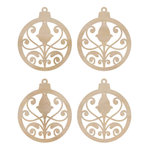 Kaisercraft - Flourishes - Die Cut Wood Pieces - Mini Ornaments