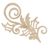 Kaisercraft - Flourishes - Die Cut Wood Pieces - Holly Flourish