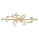 Kaisercraft - Flourishes - Die Cut Wood Pieces - Holly Border