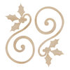 Kaisercraft - Flourishes - Die Cut Wood Pieces - Holly Curl
