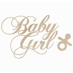Kaisercraft - Flourishes - Die Cut Wood Pieces - Baby Girl