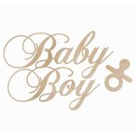 Kaisercraft - Flourishes - Die Cut Wood Pieces - Baby Boy