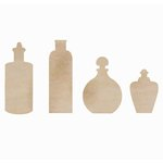 Kaisercraft - Flourishes - Die Cut Wood Pieces - Bottles