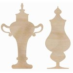 Kaisercraft - Flourishes - Die Cut Wood Pieces - Decorative Bottles