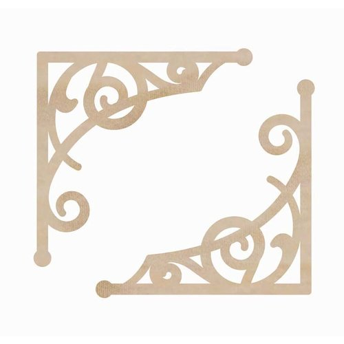 Kaisercraft - Flourishes - Die Cut Wood Pieces - Curly Corners